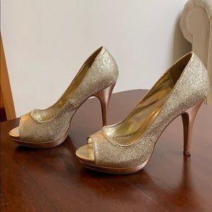 Gold Rampage Heels